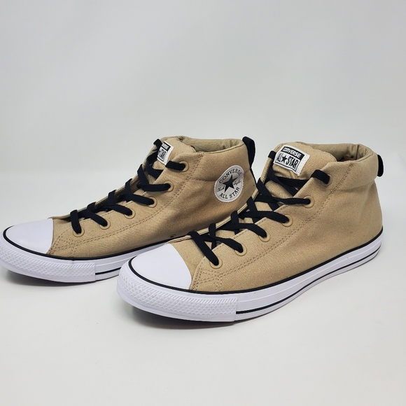Converse Brown Canvas Hi Top Shoes